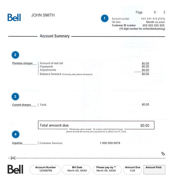 Your Bell Home phone bill explained.