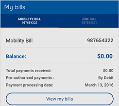 Pay and manage your bill