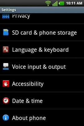Select 'About phone'
