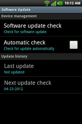 Select 'Software update check'