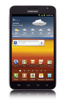 Samsung Galaxy Note<sup style='font-size:0.5em'>MC</sup>